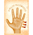 palm reading vector image
