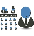 people signs vector image vector image