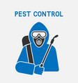pest control exterminator in protective suit vector image vector image