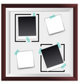 picture frame with four empty spaces vector image vector image