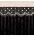 Polka dot fringe lace on black background vector image vector image