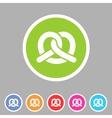 Pretzel bakery icon flat web sign symbol logo vector image vector image
