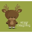 reindeer character funny icon vector image