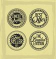 retro vintage badges on grunge background vector image vector image