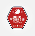 rugby world cup logo sport design vector image vector image