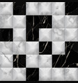 seamless pattern with black marble and white 3d vector image
