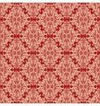 seamless vintage floral pattern red vector image