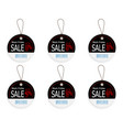 Set of black friday price discount sale tag label