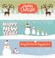 Set of horizontal Christmas and New Year banners vector image vector image