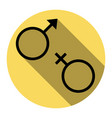 sex symbol sign flat black icon with flat vector image vector image