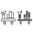 shelf line and glyph icon furniture and home vector image vector image