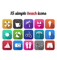Summer beach icon modern design style vector image