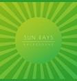sun or summer sunburst green shiny ray beam