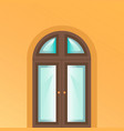 the door is on yellow background vector image vector image
