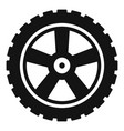 transport tire icon simple style vector image vector image