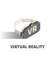 virtual reality glasses icon symbol vector image
