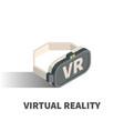 virtual reality glasses icon symbol vector image vector image