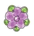 watercolor flower cartoon vector image vector image