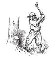 woodman vintage vector image