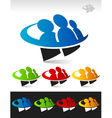 Swoosh People Logo Icon