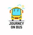 minimalistic posters of journey by bus vector image