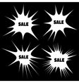 Set of White Grunge Cloud Explosions vector image