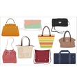 Woman fashion bags collection Casual female vector image
