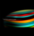 abstract wave lines fluid rainbow style color vector image