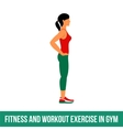 Aerobic icons full color 24 vector image vector image