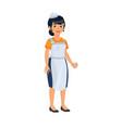 asian woman as cashier woman vector image vector image