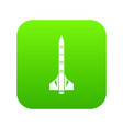 atomic rocket icon digital green vector image vector image