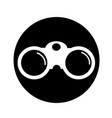 binocular icon design vector image