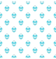 Blue swimsuit pattern cartoon style vector image