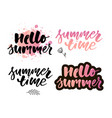 brush lettering composition summer vacation vector image