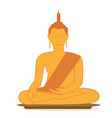 buddha statue buddha sitting on base with vector image vector image