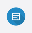 calculator Flat Blue Simple Icon with long shadow vector image vector image