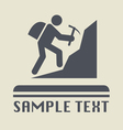 Climbing icon vector image