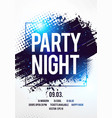 club disco party night flyer template vector image