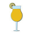 cocktail in garnished glass icon image vector image vector image
