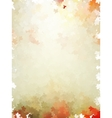 Colorful autumn leaves template pattern EPS 10 vector image vector image
