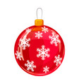 colour decorated christmas red ball isolated on vector image vector image
