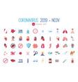 Coronavirus 2019 and covid19 concept icon set