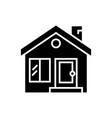 cottage with door window chimney - real estate vector image