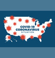 covid19-19 usa map confirmed cases cure deaths vector image vector image