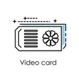 cryptocurrency mining video graphics card vector image vector image