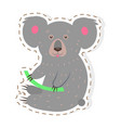 cute koala cartoon flat sticker or icon vector image