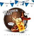 design poster for traditional beer festival vector image vector image