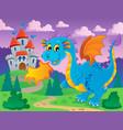 dragon theme image 5 vector image vector image