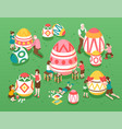 easter isometric vector image