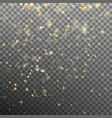 effect gold particles glitter light eps 10 vector image vector image